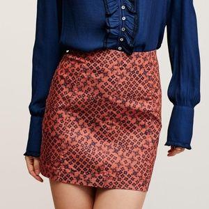 Free People Terracotta Combo Skirt